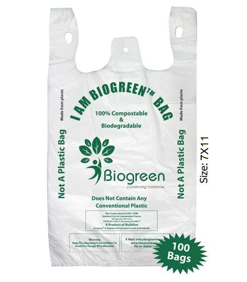 Biodegradable Compostable Grocery Bag 7X11 inches