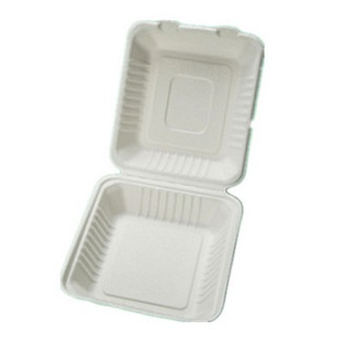 Biodegradable and Compostable Clam Shell Bagasse Food Container