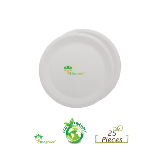 Biodegradable and Compostable Plain Round Plate